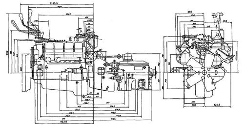 Двигатель, сцепление и коробка